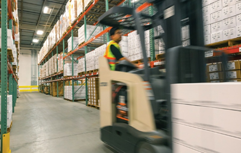 How can increased visibility lead to warehouse efficiency?